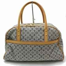 31804 Louis Vuitton Blue Beige Monogram Canvas Mini Maria Satchel Handba... - $341.07