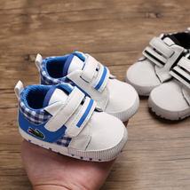 Free Shipping Blue Baby Walking Shoes Leather Toddler Shoes Size 1,2,3 L6482 image 6