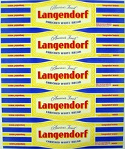 Vintage bread wrapper LANGENDORF Los Angeles San Jose California new old... - $11.69