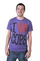 Tavik USA Mens Black White Piggy I Love Hate Cops Police Brutality T-Shirt NWT image 4