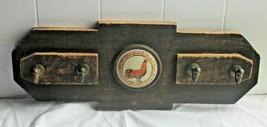 Rustic looking Handmade Roster Folk Art Wood Key Storage Holder Wall Mou... - $37.62
