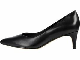 Clarks Laina Court 2 Black Leather Women's Classic Slip On Pumps 51380 - $94.00