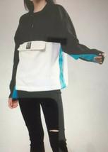 DKNY Pullover Sweatshirt Jacket 1/2 Zip Medium NWT Multicolored Black New M - $14.82