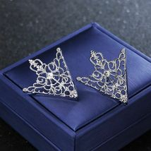 Unisex Brooch Pin Fashion Hollow Geometric Flower Suit Tie Hat Scarf Badges Prom image 11