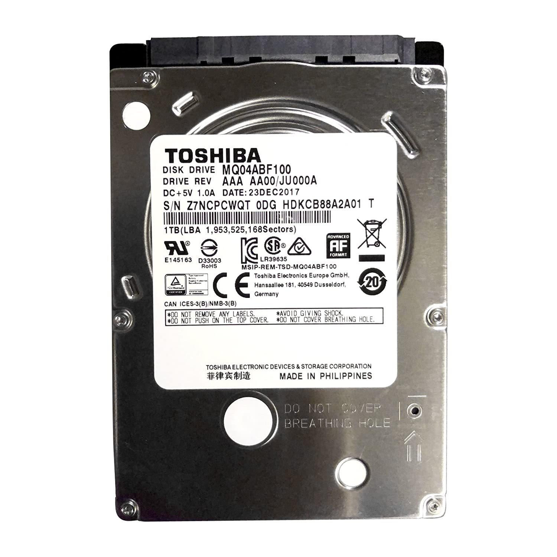 """MQ04ABF100 Toshiba 1TB/1000GB 5400rpm Sata 7mm 2.5"""" Hard Drive 128mb, 6 Gbit/s. - $76.99"""