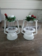 """(2) Christmas House Old Fashioned White  Laterns Christmas Ornament 4.5"""" - $13.81"""