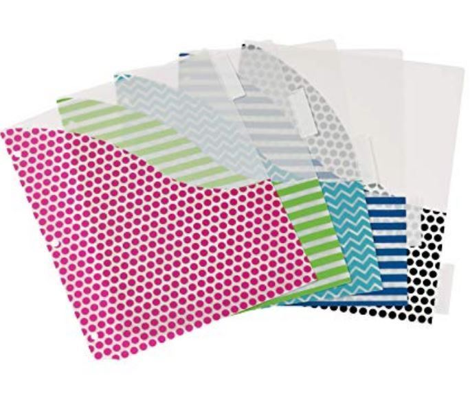 Avery 5-Tab Plastic Binder Dividers With Pockets