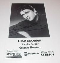 Chad Brannon Autograph Reprint Photo 9x6 General Hospital 2002 - $4.99