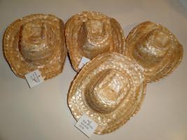 "4 straw hats 6 1/4"" x 5"" - $5.00"