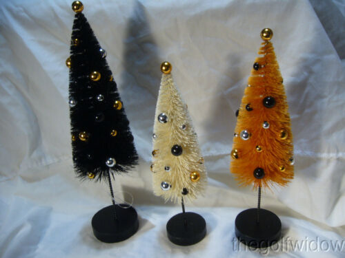 (3) Bethany Lowe Halloween Confetti Trees