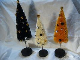 (3) Bethany Lowe Halloween Confetti Trees image 1