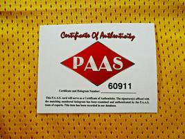 DENNIS RODMAN / AUTOGRAPHED LOS ANGELES LAKERS YELLOW CUSTOM JERSEY / COA image 6