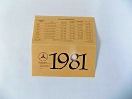 1981 mercedes 380sl slc300cd 500sec owners price card brochure w107 w123... - $34.64
