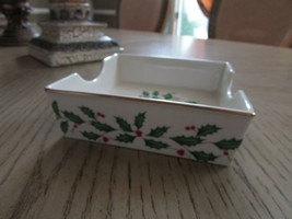 LENOX CHINA DIMENSION COLLECTION HOLIDAY SQUARE COCKTAIL NAPKIN HOLDER 5... - $9.85