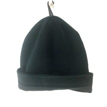 Van Heusen Mens Reversible Knit Hat Cap Beanie Black Gray Stripes  One S... - $9.90