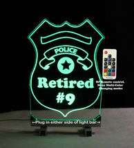 Personalized Police Badge LED Sign - Policeman image 5