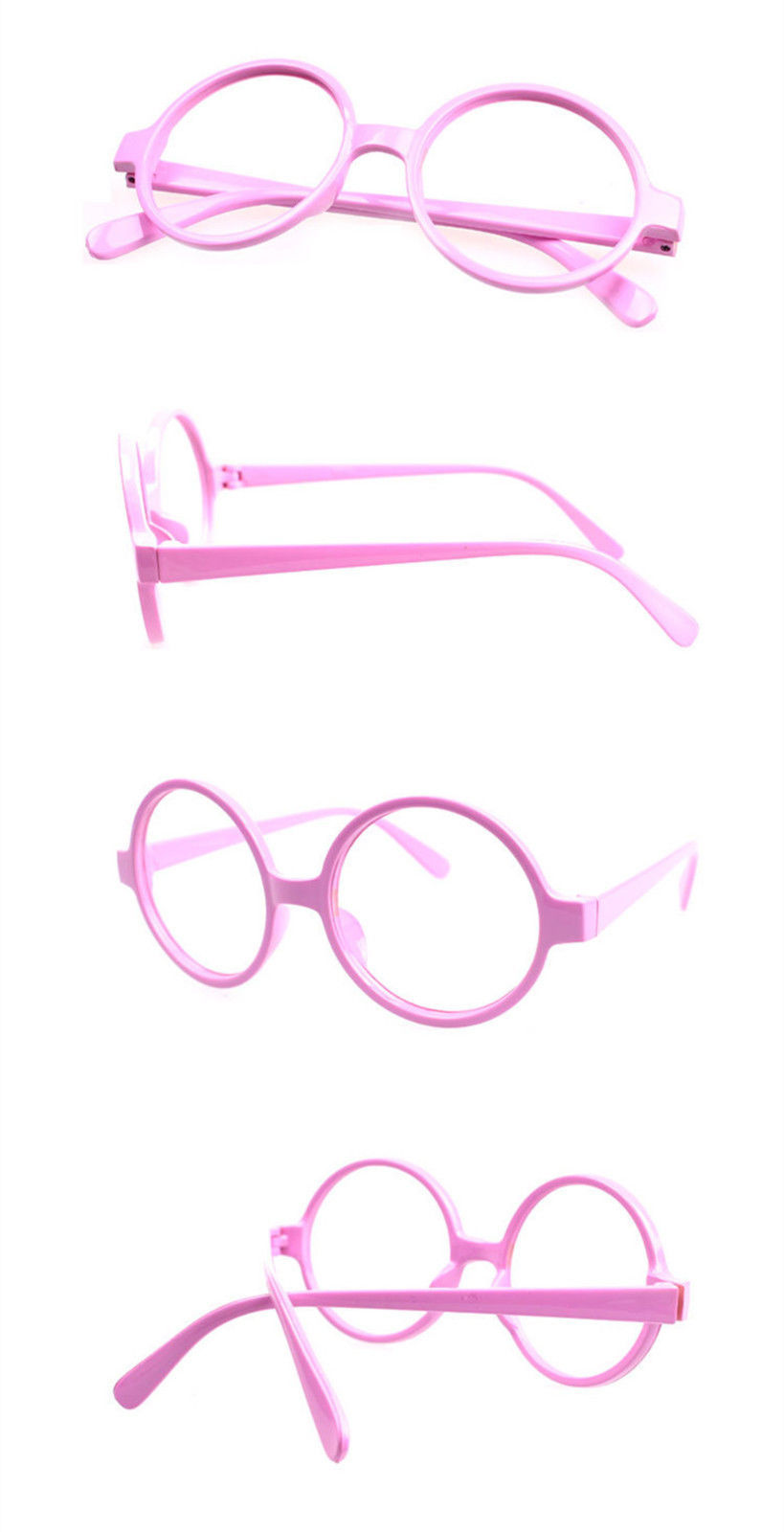 Classic Vintage Round Wizard Costume Nerdy Glasses Frames NO LENS Spectacle Wear image 12