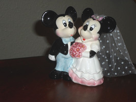 Disney Collectible Mickey And Minnie Mouse Wedding Figurine Cake Topper  - $14.99