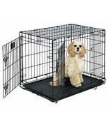 "Medium Dog Crate | MidWest Life Stages 30"" Double Door Folding Metal Dog... - £33.78 GBP+"