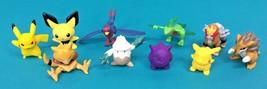 Pokemon 10 Nintendo Vintage Pikachu Gengar Erasers Sasco Small Figure Ab... - $59.95