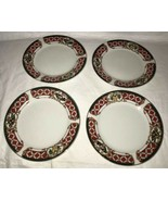 WINDSOR Gibson China Christmas Green Red Checked Rocking Horse Salad Pla... - $26.72
