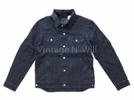 Levis Commuter Mens L Indigo Blue Cyclist Hood Stretch Denim Jean Trucke... - $94.50