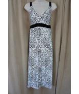 Morgan Taylor Intimates Sleepwear Sz S Black White Medallion Night Gown ... - €31,63 EUR