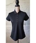 Nike 746100 Ladies Dri-FIT Solid Icon Pique Polo - Black Size Medium NEW... - $24.75