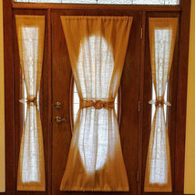 Burlap French Door Panel, Sidelight Curtain, Two sizes, Natural burlap, ... - $24.99+