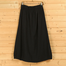 Women A Line Cotton Linen Skirts Linen Casual Skirt, Army Green Navy,  One Size image 6