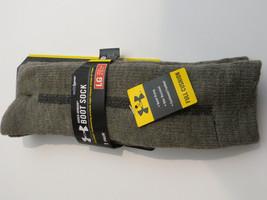 Under Armour 5529 Boot Socks Foliage Green full cushion wool blend seaml... - $10.00