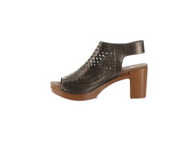 Dansko Perforated Leather Heeled Sandals Danae Pewter 42=11.5-12 NEW A30... - $85.12