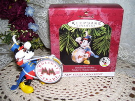 HALLMARK CHRISTMAS ORNAMENT DISNEYS MICKEY MOUSE MIB - $17.72