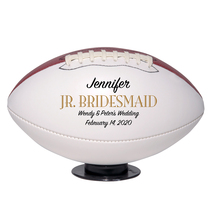 Junior Bridesmaid Regulation Football Wedding Gift - Personalized Wedding Favor - $59.95