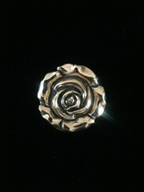 Vintage 60s golden rose scarf clip