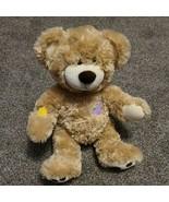 Build A Bear Plush Patchwork Fluffy Beige Light Brown Bear - $19.99