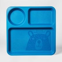 "10"" Plastic Kids Square Divided Plate Blue - Pillowfort - €8,95 EUR"
