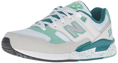 New Balance Men's 530 Classic Lifestyle Sneaker, Grey/Juniper/White, 8 D US