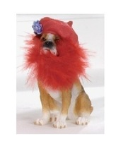 RED HAT Pet Club Collectible Dog Figurine BOXER Society Gift NEW Retired... - $10.95