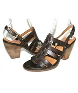 ✿ INDIGO by Clarks Woven Strappy Slingback Heeled Sandals 8 M EXCELLENT!... - $42.74