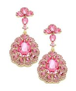 Pink Elegant Costume Jewelry Fashion Earrings Glass Crystal Prom Accesso... - $24.99