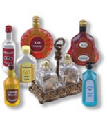 REUTTER PORZELLAN MINIATURES TOP SHELF LIQUOR SET #1.846/8 - $33.50