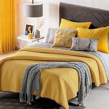 Mustard Reversible Novo Comforter with Special Quilt Twin Size Soft and ... - $55.84
