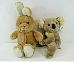 "Dakin Plush Koala & Bunny Fun Farm 1981 Rabbit 1982 VTG 17"" Tags Attached - $42.39"