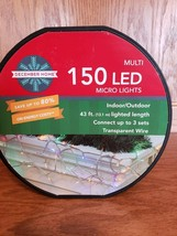 December Home Multi Color 150 LED Micro Lights 43 ft Lighted Length NEW - $17.99