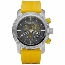 Burberry BU7712 Sport Chronograph Black Dial Yellow Rubber Mens Watch - $394.38 CAD
