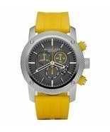 Burberry BU7712 Sport Chronograph Black Dial Yellow Rubber Mens Watch - $393.86 CAD