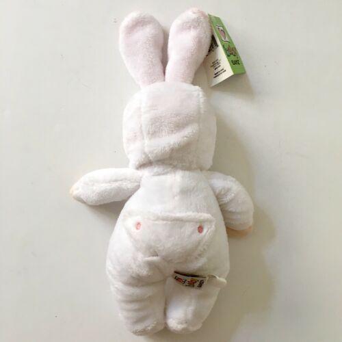 "Baby Ganz Soft Plush Doll Bunny Ears White PJs 12"" Stuffed Toddler Toy Rabbit"