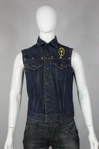 vintage Levis big E denim vest jacket S 60's custom jean blue harley dav... - $200.00