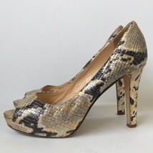 Kate Spade Snakeskin Peep Toe Platform Pumps 6.5M - $41.76